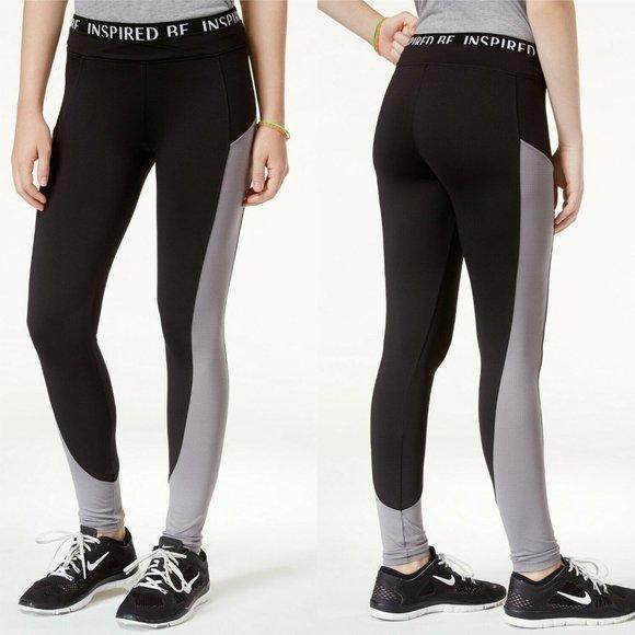 Energie Pants - Energie Active Lola Mesh-Inset Leggings Black Gray